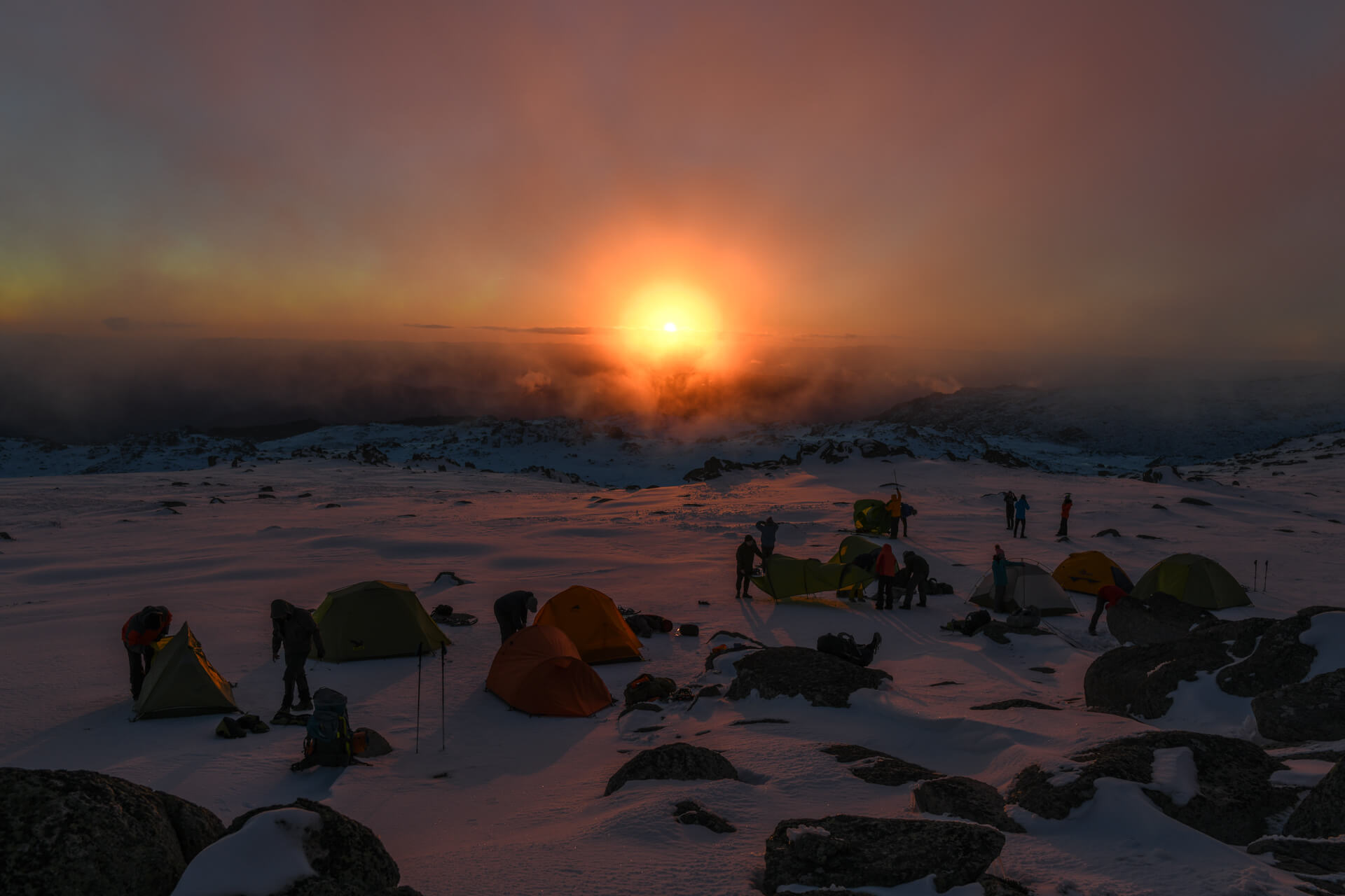 Camping on Mountain Kosciuszko!